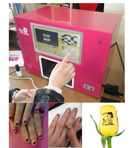 CE approved Computer build inside  nail printer nail printing machine new updated 2016 SCREEN NAIL PRINTER