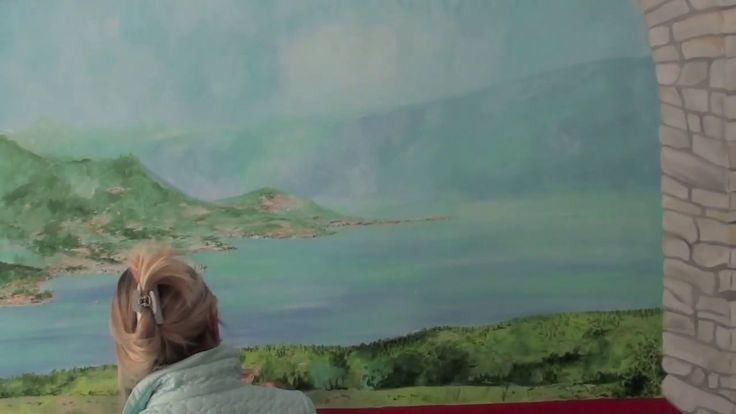 Dipinto su muro di Antonella Falcioni al ristorante e pizzeria Cà Rossa