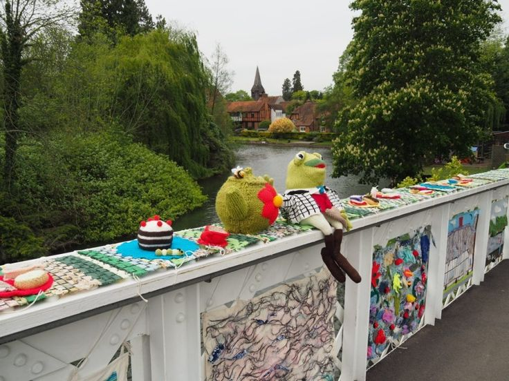 Yarn Bombing on Whitchurch Bridge