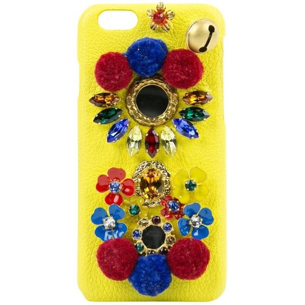 Pre-owned Dolce & Gabbana Leather Iphone Case (2,715 MXN) ❤ liked on Polyvore featuring home, home decor, yellow, yellow home accessories, leather home decor and yellow home decor