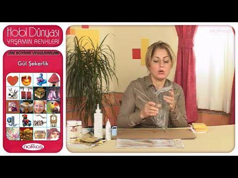 Cam Boyama Uygulamaları - Gül Şekerlik - YouTube