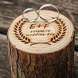 Rustic Wedding Ring Box Holder Custom Ring Box Personalized Wedding / Valentines Engagement Wooden Ring Bearer Box