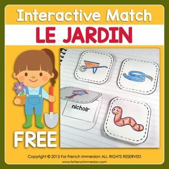 Gratuit Le Jardin - FREE Spring Garden Foldable Flap Matching for Interactive Notebooks or Lapbooks: pour le printemps!A well-structured matching activity is an effective way to get your students to learn or review vocabulary.However, you feel that kids might be getting used to matching exercises.