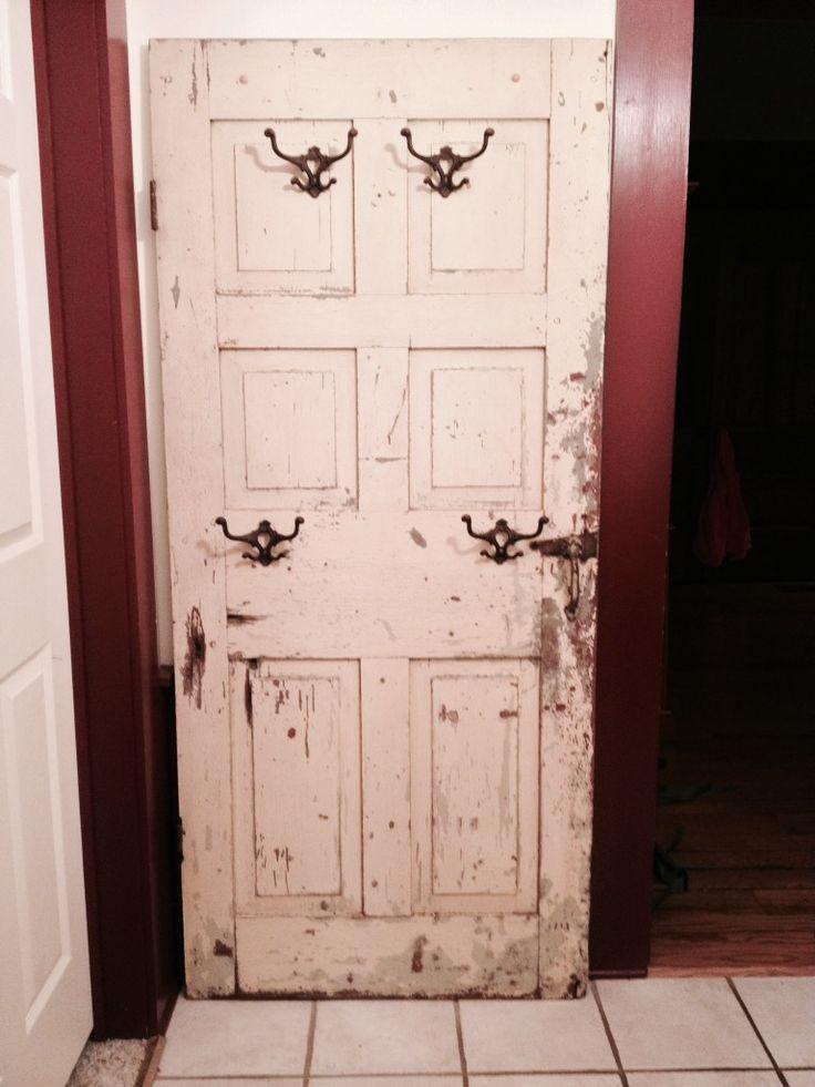 Coat Rack Made From An Old Door Home Ideas Pinterest