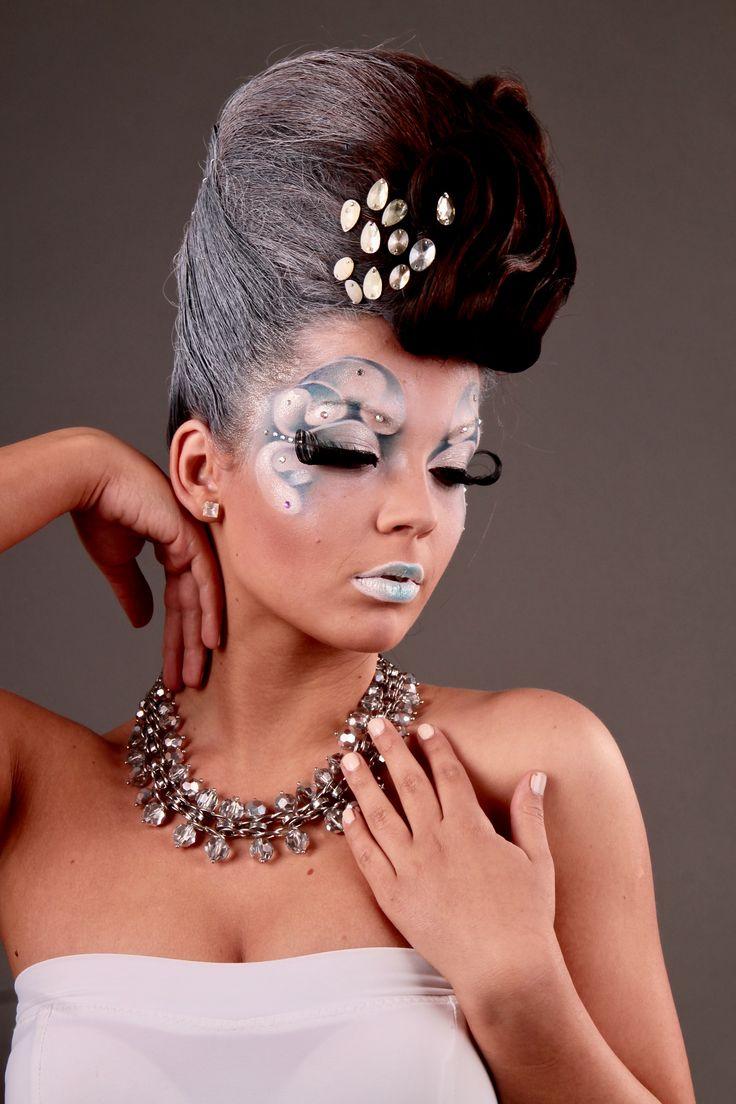 Jégkirálynő, tél, fantázia smink, fantasy makeup, artistic makeup