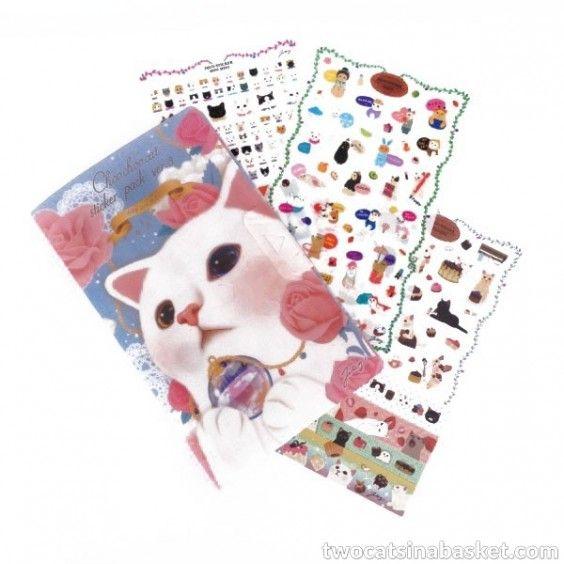 Set de Pegatinas Choo Choo Blue Edition - TWO CATS IN A BASKET