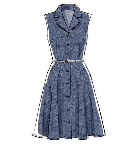 M6891 Misses' Dress & Sash | Palmer Pletch