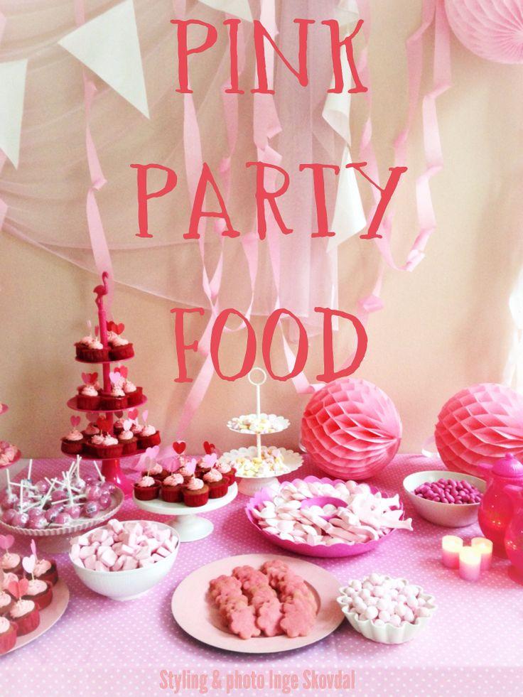 pink party food Styling & photo : Inge Skovdal
