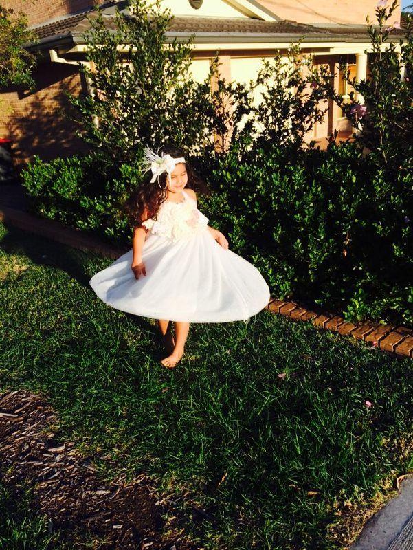 White halter dress....