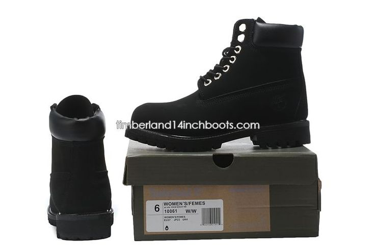 New Men's Timberland 6 Inch Boots All Black $ 110.00