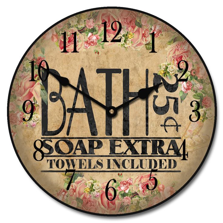 Antique Bath Wall Clock 10 60 Whisper Quiet Nonticking ** Check This Awesome  Product By Going To The Link At The Image.