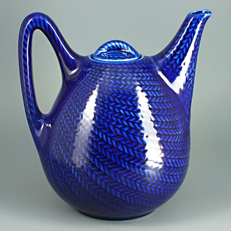 "Hertha Bengtsson (1951) Iconic ""Blue fire"" tea pot"