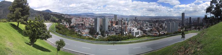 Bogotá, colombia, Panorámica desde Avenida Circunvalar