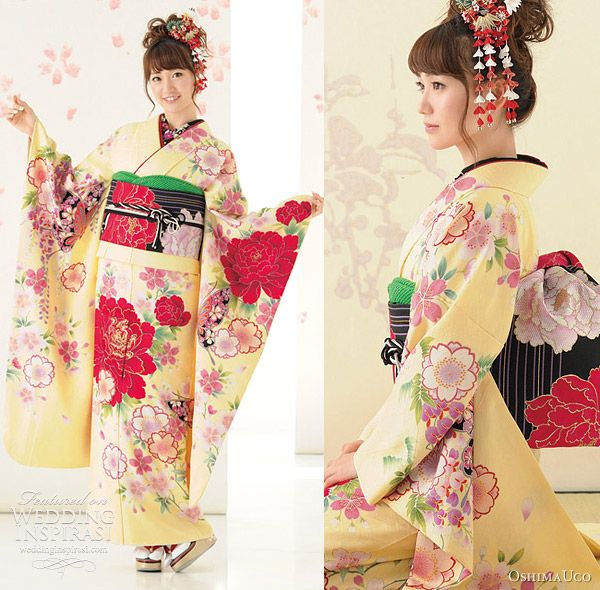 Traditional Wedding Dresses - Asian wedding costume, kimono