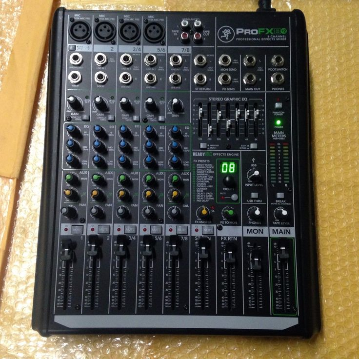 Mackie ProFX8v2 8 Channel Professional Effects Mixer | eBay