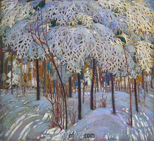Painting Title: Snow in October, c.1916/17 | Artist: Tom Thomson (1877-1917) | Fine Art Painting Reproduction by TOPofART.com
