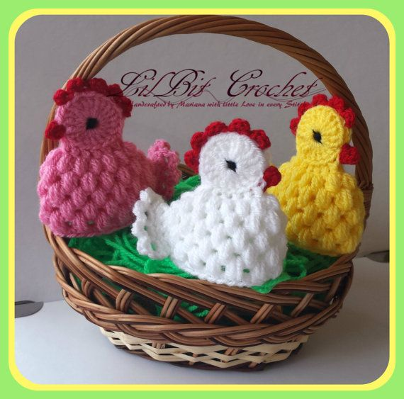 Handmade Egg Cosy / Warmer Crochet Easter Chicken by LilBitCrochet