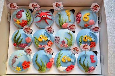 Ariel the Little Mermaid Cupcakes