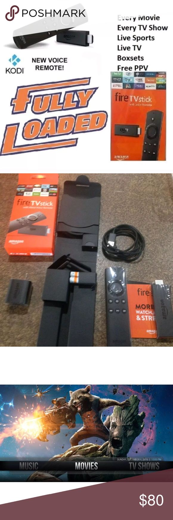 Amazon Fire Stick Fully Loaded for Entertainment Best Price - Best Quality Comes with Kodi and tons of free entertainment. Movies, TV Shows, Cartoons, Pay-Per View, XXX, Sports Packages and etc check out website for more info Jboxtv.com and Jboxtv.com/firestick.html amazon Other