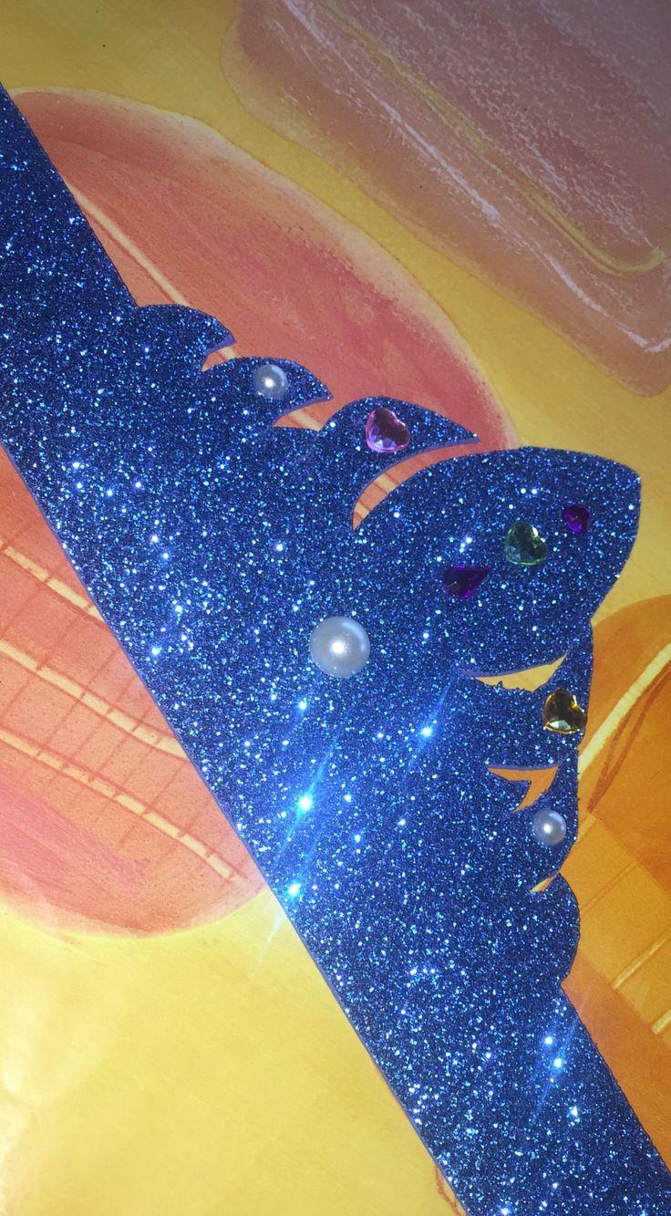 Corona da principessa del ghiaccio in gomma Eva glitterata