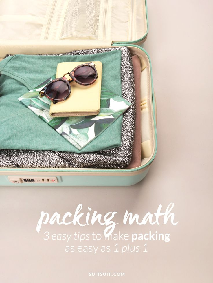 3 travel tips & tricks to make packing as easy as 1 plus 1. Love, SUITSUIT