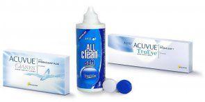 Acuvue Oasys 6 Stk. + 1 Day Acuvue Trueye 10 Stk. + AVIZOR ALL clean soft 120 ml