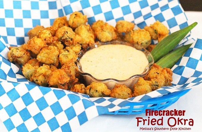 Firecracker Fried Okra | Cook's note:If you prefer a milder version, omit the cayenne and hot sauce.