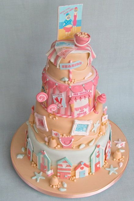 Edible Beach Cake - by Little Cake Cupboard @ CakesDecor.com - cake decorating website