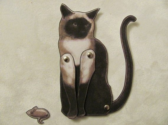 Jointed Cat Paper Doll