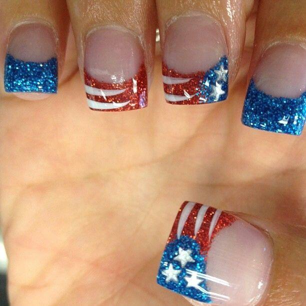 Acrylic nails! 4th of July