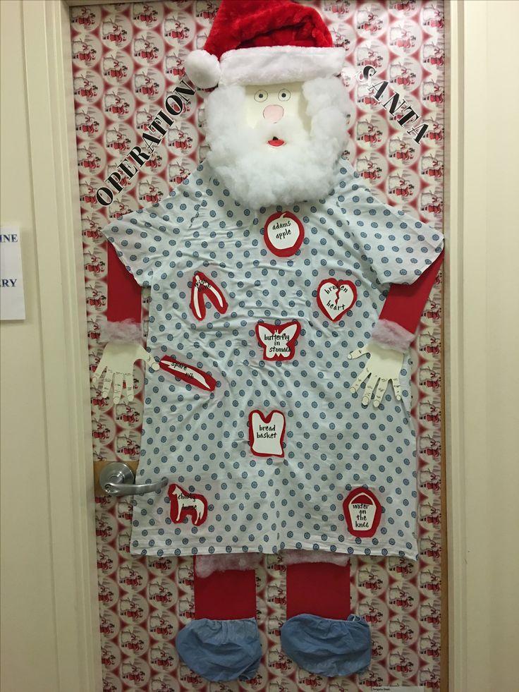 Medical Christmas Door Decorations. Christmas Cake