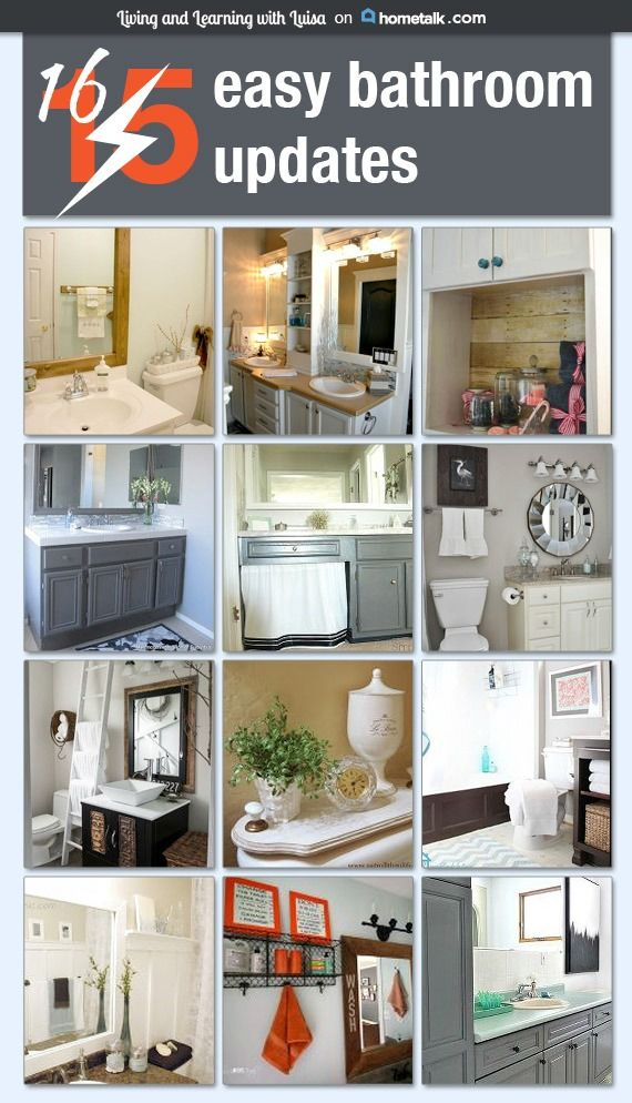 Top 25 Ideas About Easy Bathroom Updates On Pinterest