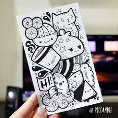 Doodle by Pic Candle (Pic Candle) Tags: black cute illustration pen candle drawing character pic doodle marker sharpie doodles cartoons doodleart piccandle