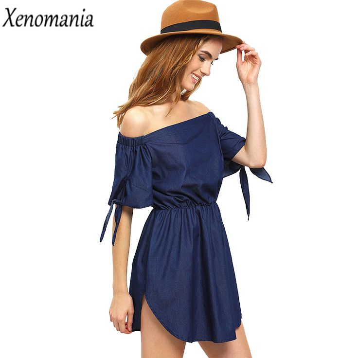 Denim Dress Off Shoulder Dress Women Sexy Party Dresses Brazil 2017 Summer Vestido Jeans Vestidos Ukraine Beach Robe Femme Tunic
