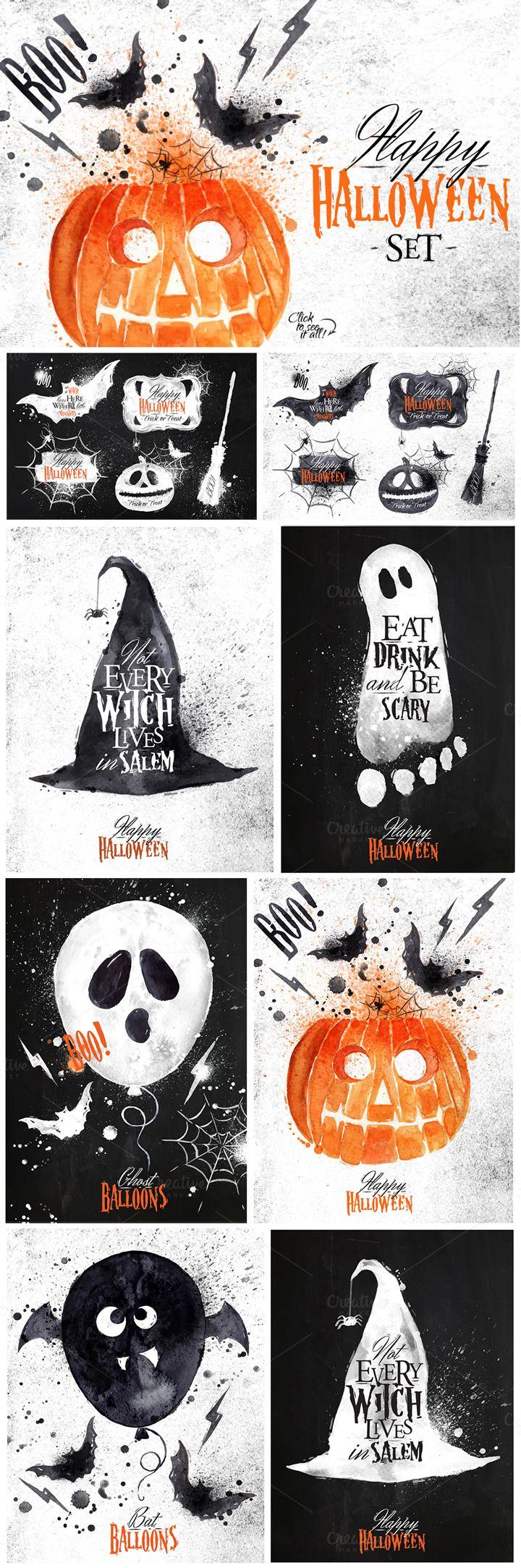 Halloween set by Anna on Creative Market