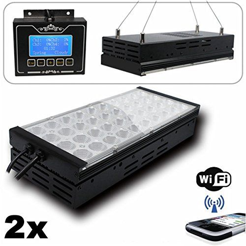 This aquarium Led Lighting System is special designed to imitation natural sun for LPS SPS reef coral and marine fish   One light Panels with one controller Programmable & 12 preset mode & cloudy &thu...