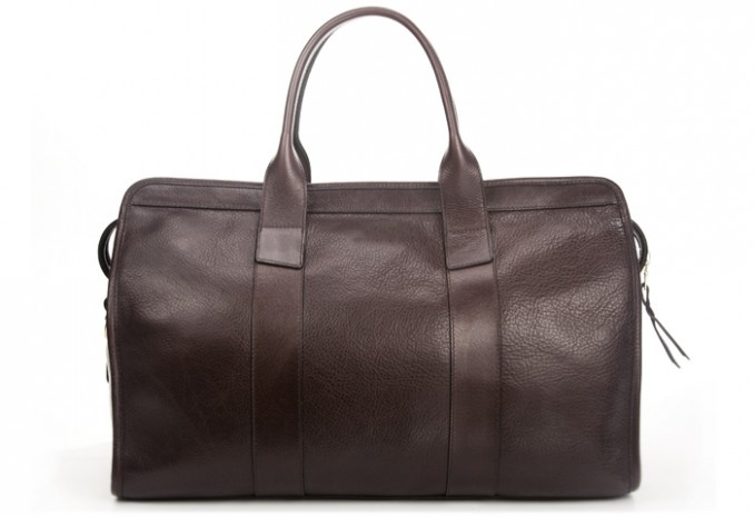 Gorgeous handcrafted leather duffle from Lotuff & Clegg
