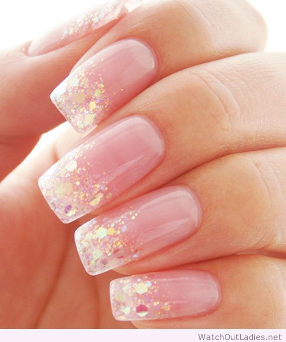 Best 25 light pink nail designs ideas on pinterest pretty nails pretty light pink nails with glitter prinsesfo Gallery