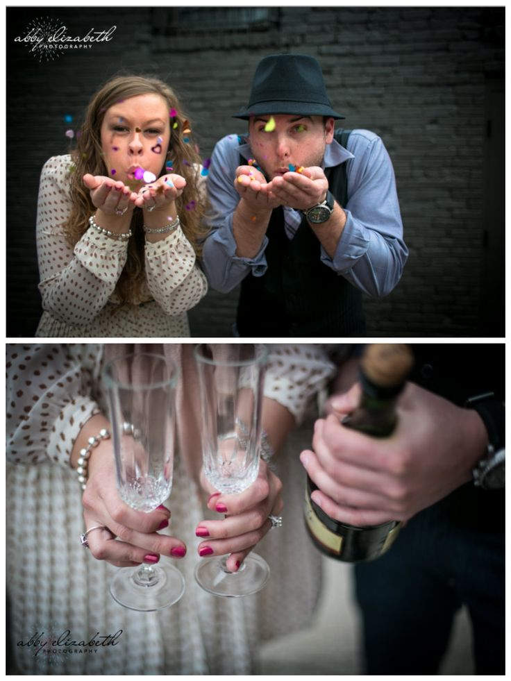 Themed engagement shoot featured on The Bride Link.   Photos by Abby Elizabeth Photography.   http://www.thebridelink.com/blog/2013/01/22/new-years-engagement-session/#