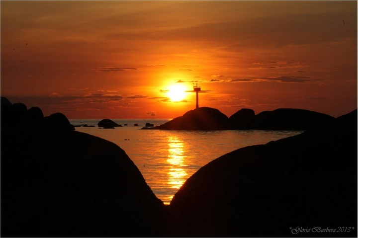 magical sunset in Koh Tao