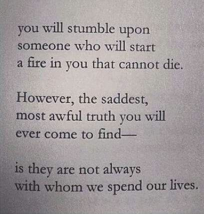 It is not sad nor awful. If it's meant to be, no matter how complicated it seems, it will be. COMPROMISE is key