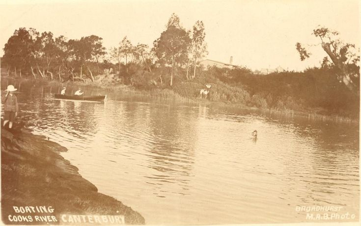 Boating, Cooks River c1910