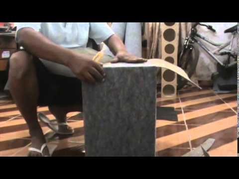 como forrar uma caixa com carpete e outras forrações - YouTube