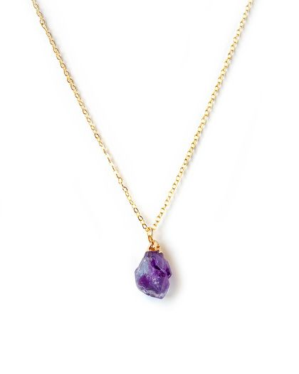 Amethyst Drop Necklace on one of those stupid sites that expect you to register to look