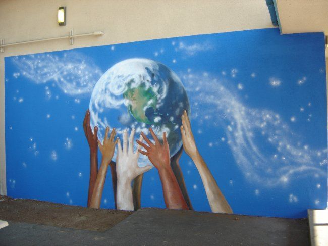 Best 25 school murals ideas on pinterest for Mural school