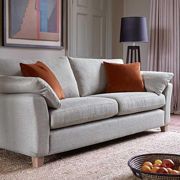 Oscar Extra Large Sofa, Dash Silver | Sofas | Living Room