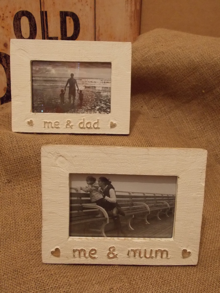White Wooden Rustic Style Family Photo Frames, £12.45