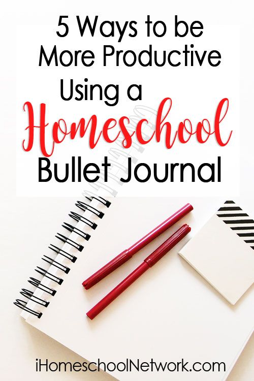 5 Ways to Be More Productive Using a Homeschool Bullet Journal