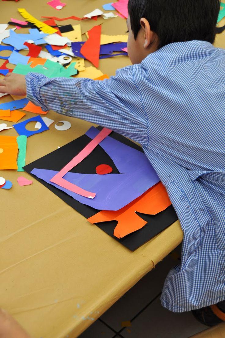I papiers gouaches découpés  furono inventati da Henri Matisse negli anni quaranta. Matisse malato non poteva più dipingere con i pennelli...