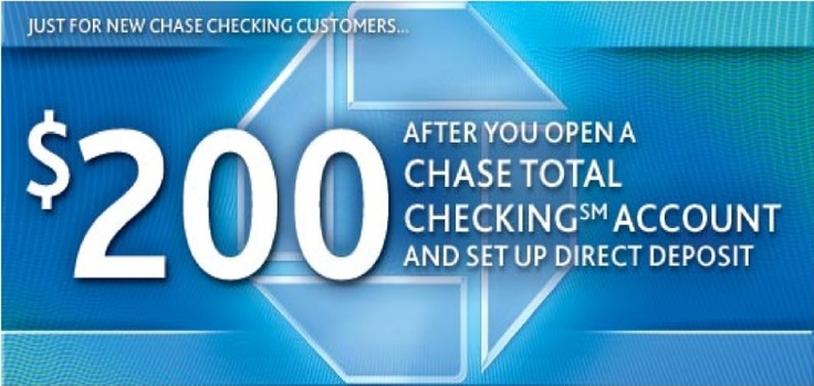 Chase Bank account opening bonus coupons